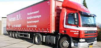 Votrans - Trekker met grote dichte trailer